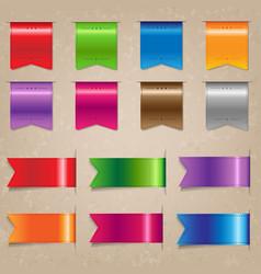 big colorful ribbon set vector image vector image
