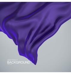 Blue indigo silk fabric vector image vector image