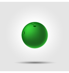 Bowling ball 8 on white background with shadow vector image vector image