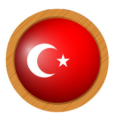 icon design for flag of turkey vector image vector image