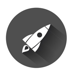 Rocket pictogram icon business startup launch vector