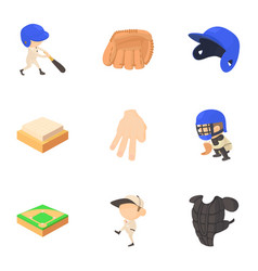 sport game icons set cartoon style vector image vector image