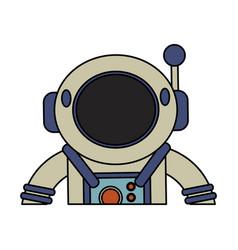 astronaut suit helmet space vector image vector image
