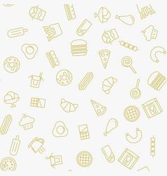 fast food minimal seamless pattern vector image