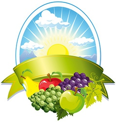 fruit label vector image vector image