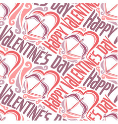 seamless pattern for happy valentines day vector image vector image