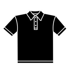 t-shirt icon simple black style vector image vector image