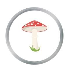 Amanita icon in cartoon style for web vector image vector image