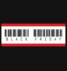 black friday inscription barcode vector image vector image
