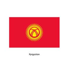 kyrgyzstan flag kyrgyzstan flag vector image vector image