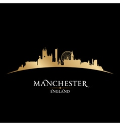 Manchester England city skyline silhouette vector image vector image