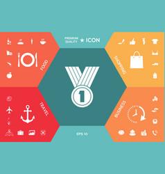 medal icon symbol vector image