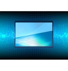 modern plasma tv screen vector image vector image