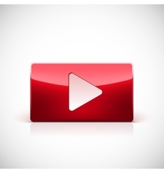 Play button red color vector image