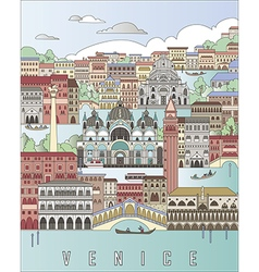 Venice City Poster vector image vector image