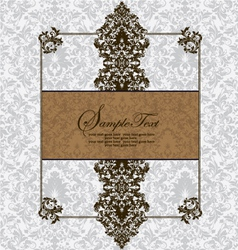 Vintage card design for wedding invitation vector image