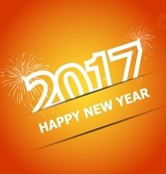 2017 happy new year on orange background vector