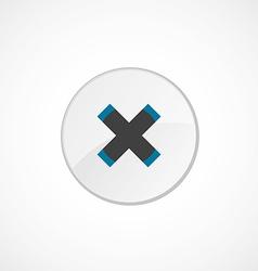 close icon 2 colored vector image