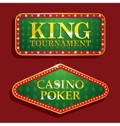 Golden Casino banners isolated on red background vector image
