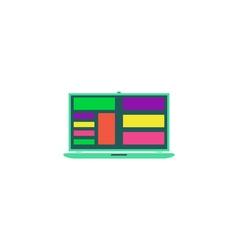 Laptop app Icon vector image vector image