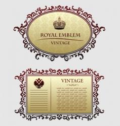 vintagedecorative frames vector image