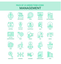 25 green management icon set vector