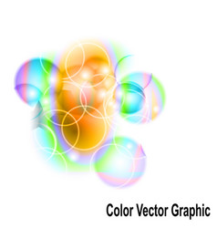 abstract color graphic modern shape vector image