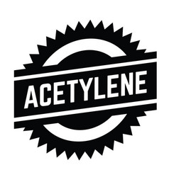 Acetylene stamp on white vector