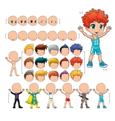 avatar boy isolated objects vector image