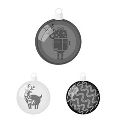 Balls for decoration monochrome icons in set vector