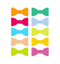 Beautiful colored mens bow ties vector