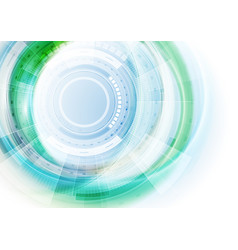 blue and green futuristic technology abstract vector image