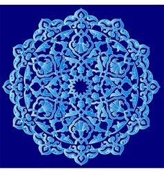 Blue artistic ottoman pattern series ninety one vector
