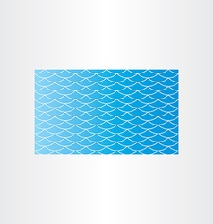 Blue water wave background seamless card vector