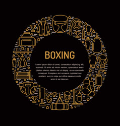 boxing poster template sport training line vector image