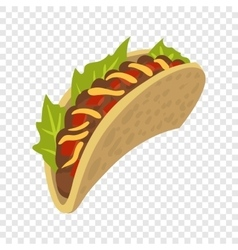 Cartoon mexican taco vector image