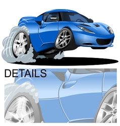 cartoon sportcar vector image