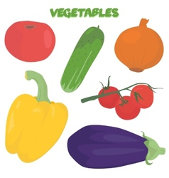 Cartoon vegetable set vector image