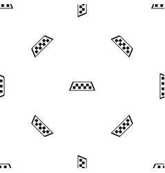 checker taxi pattern seamless black vector image