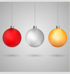 christmas ball vector image