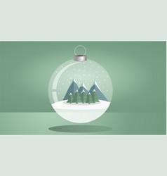 christmas theme with a shiny christmas ball vector image