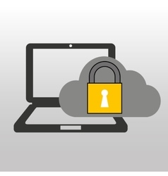 Cloud computer connected security vector