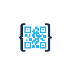Code barcode logo icon design vector