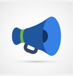 colored megaphone trendy symbol vector image