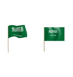 colorful naturalistic waving saudi arabia flag vector image