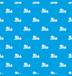 concrete mixer truck pattern seamless blue vector image