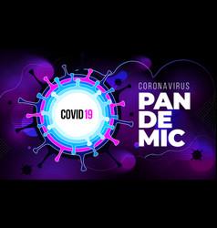 coronavirus covid19-19 sars-cov-2 on a purple vector image