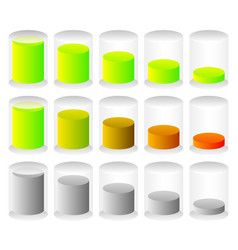 Cylindrical graphics for levels fullness concepts vector