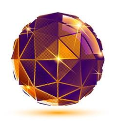 Dimensional futuristic sparkling object bright vector
