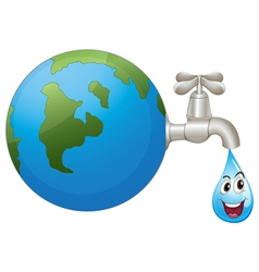 Earth and a water drop vector